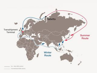 The shipping of LNG towards Europe and Asia - Image from the French company Total