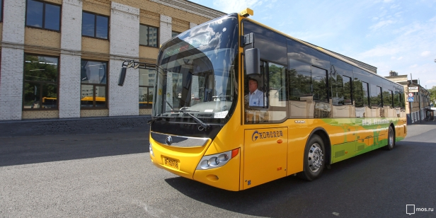 Electric bus Yutong - Mos.ru July 2017