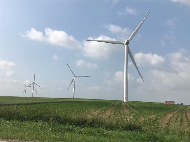 Wind turbine, June 2018 - Photo credit S.Bigot
