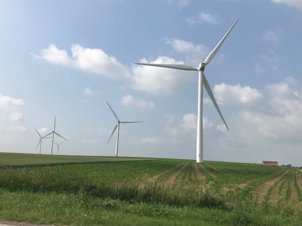 Wind turbine, June 2018 - Photo credit S.Bigot
